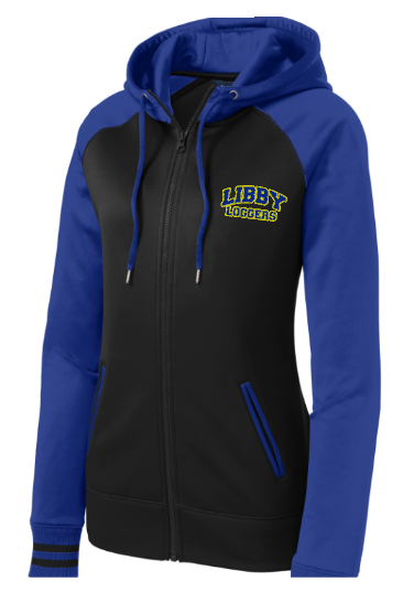 Ladies Sport Wick Varsity Fleece Full Zip Jacket