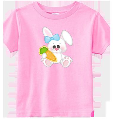 Bunny Girl Holding Carrot Infant/Toddler Tee