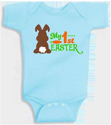1st Easter Chocolate Bunny Boys Infant Onesie