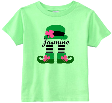 Leprechaun Girl Personalized infant/Toddler Tee