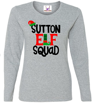 Family Name Elf Squad Longsleeve Tee