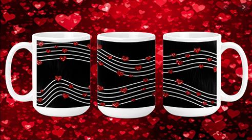 Heart Music 15oz Valentine Mug