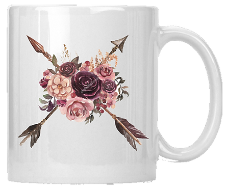Flowers & Arrows Mug
