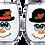 Thumbnail: 21oz Stemless Mr & Mrs Snowman Wine Glass Set