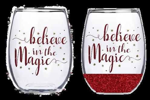 21oz Stemless Believe in the Magic II Wine Glass