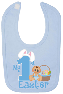 Baby Boy 1st Easter Bib