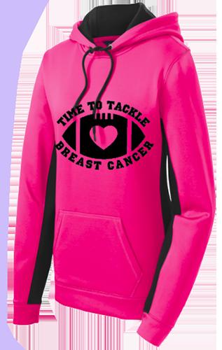 Ladies Cancer Awareness Sport Wick Fleece Hoodie