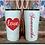 Thumbnail: 20 oz. White Glitter w Red Glitter Love Heart Custom Travel Mug