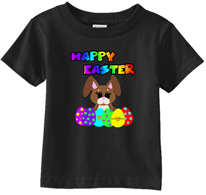 Happy Easter Rainbow Bunny w eggs Infant/Toddler Tee
