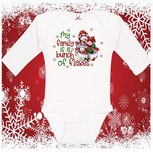 Family Flakes Longsleeve Onesie or Toddler Tee