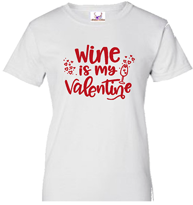 MCV002 Wine is my Valentine 2 White