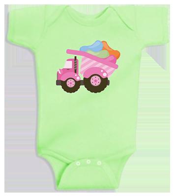 Jelly Bean Dump Truck Infant Onesie