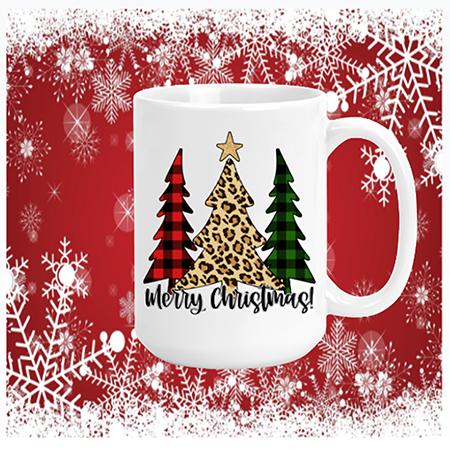 Merry Christmas Trees Mug