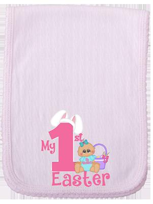 Baby Girl 1st Easter Burp Cloth