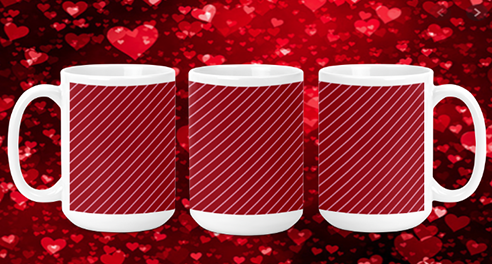 Stripes III 15oz Valentine Mug