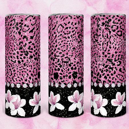 Pink Leopard 20 or 30oz Skinny Custom Tumbler