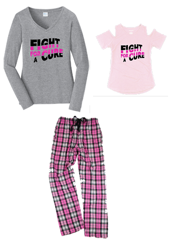 Mommy & Me Fight For A Cure Flannet Pant set