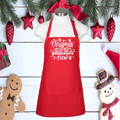 "Christmas Baking Crew 24"" 3 Pocket Apron"