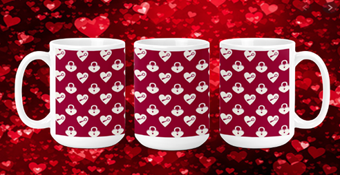 Heart Locks 15oz Valentine Mug