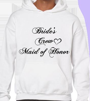 Brides Crew Maid Of Honor Hoodie