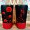 Thumbnail: 20 oz. Black Glitter Red Roses Custom Travel Mug