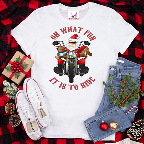 Oh What Fun It Is To Ride (Harley) Tee