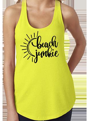 Beach Junkie Racerback Tank Top