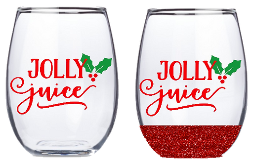 21oz Stemless Jolly Juice Wine Glass