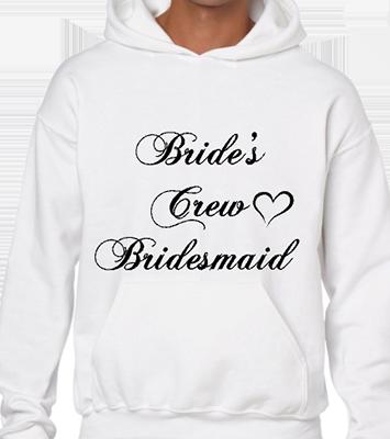 Brides Crew Bridesmaid Hoodie
