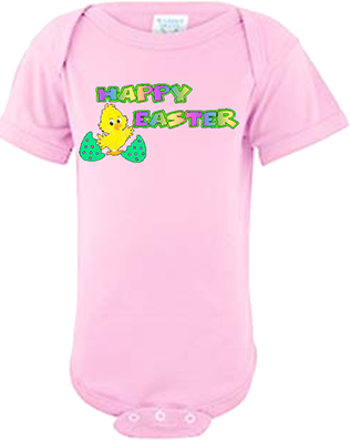 Happy Easter Chick Infant Onesie