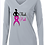 Thumbnail: Ladies Cancer Awareness Posicharge Longsleeve Tee