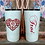 Thumbnail: 20 oz. White Glitter Western Heart w Monogram Custom Travel Mug