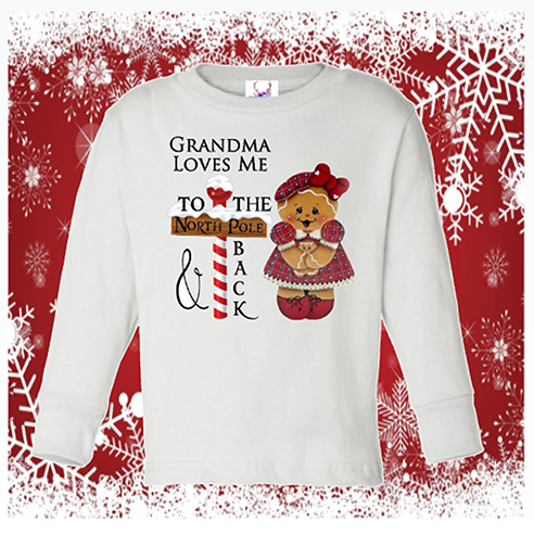 To The North Pole & Back Longsleeve Onesie or Toddler Tee