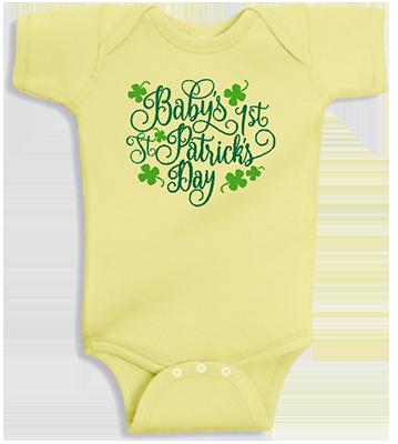 Baby's First St Patricks Day Infant Onesie