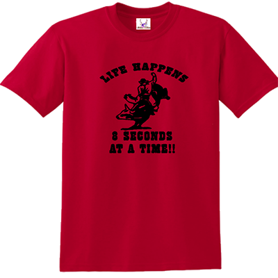 Life Happens 8 Seconds At A Time Tee