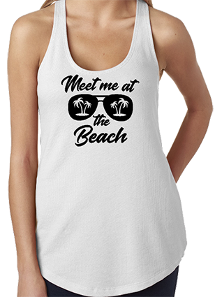 Meet Me At The Beach Racerback Tank Top
