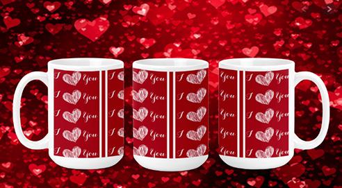 I Love You 15oz Valentine Mug