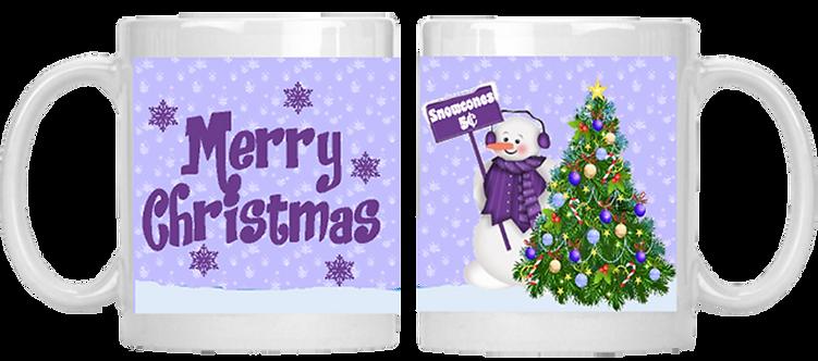 Lavendar Snowman Mug