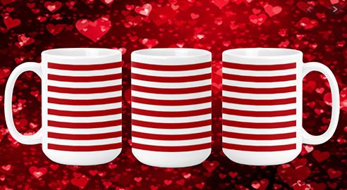 Stripes II 15oz Valentine Mug