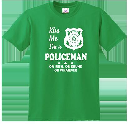Kiss Me I'm A Policeman Tee
