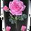 Thumbnail: 20 oz. Black and Pink Glitter Pink Roses Custom Travel Mug
