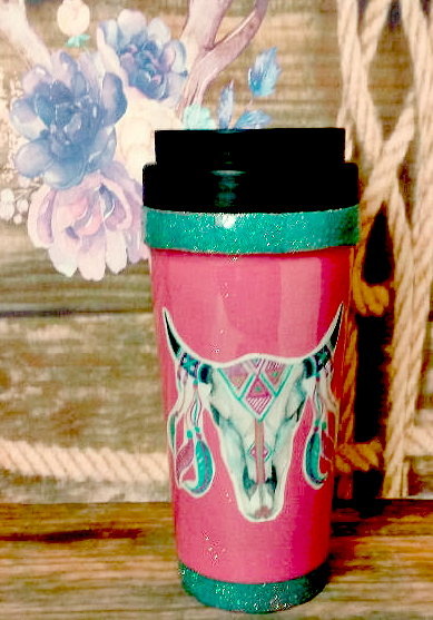 Skull Head Travel Mug