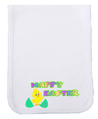 Happy Easter Chick Burp Cloth