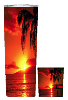 Beach Sunset 20 or 30 oz Summer Wrap Tumbler