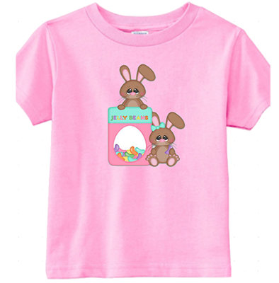 Jelly Bean Bunny Infant/Toddler Girls Tee