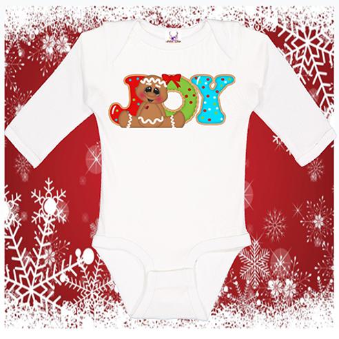 Gingerbread Joy Infant Onesie or Toddler Tee