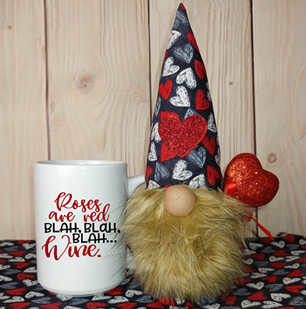 Roses Are Red Blah Blah Blah Gnome in a Mug 15oz Valentine Mug