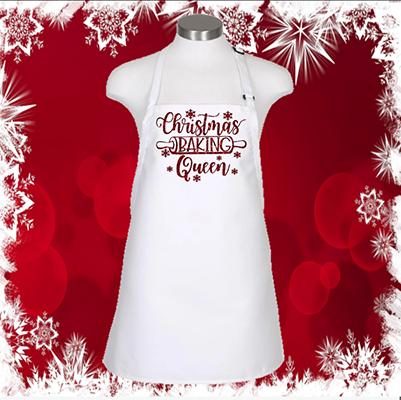 """Christmas Baking Queen 24"""" 3 Pocket Apron"""