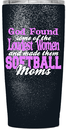 Softball Moms Custom Tumbler
