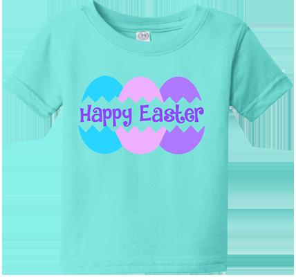 Happy Easter Eggs Infant/Toddler Girls Tee